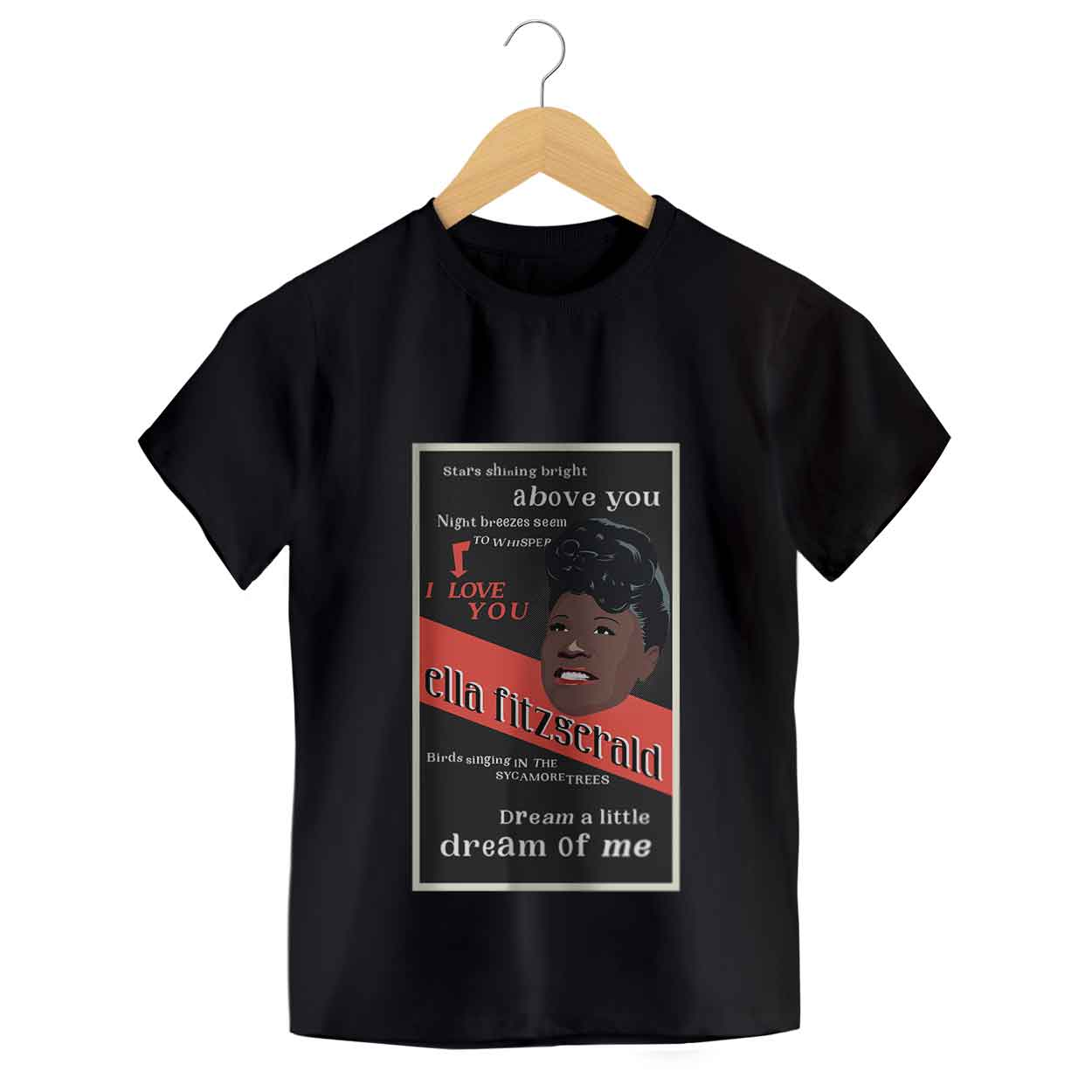 Camiseta Dream A Little Dream Of Me - Ella Fitzgerald - Infantil