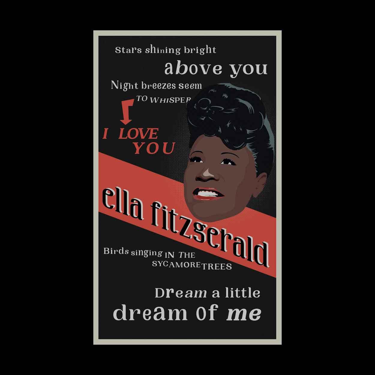 Camiseta Dream A Little Dream Of Me - Ella Fitzgerald - Infantil