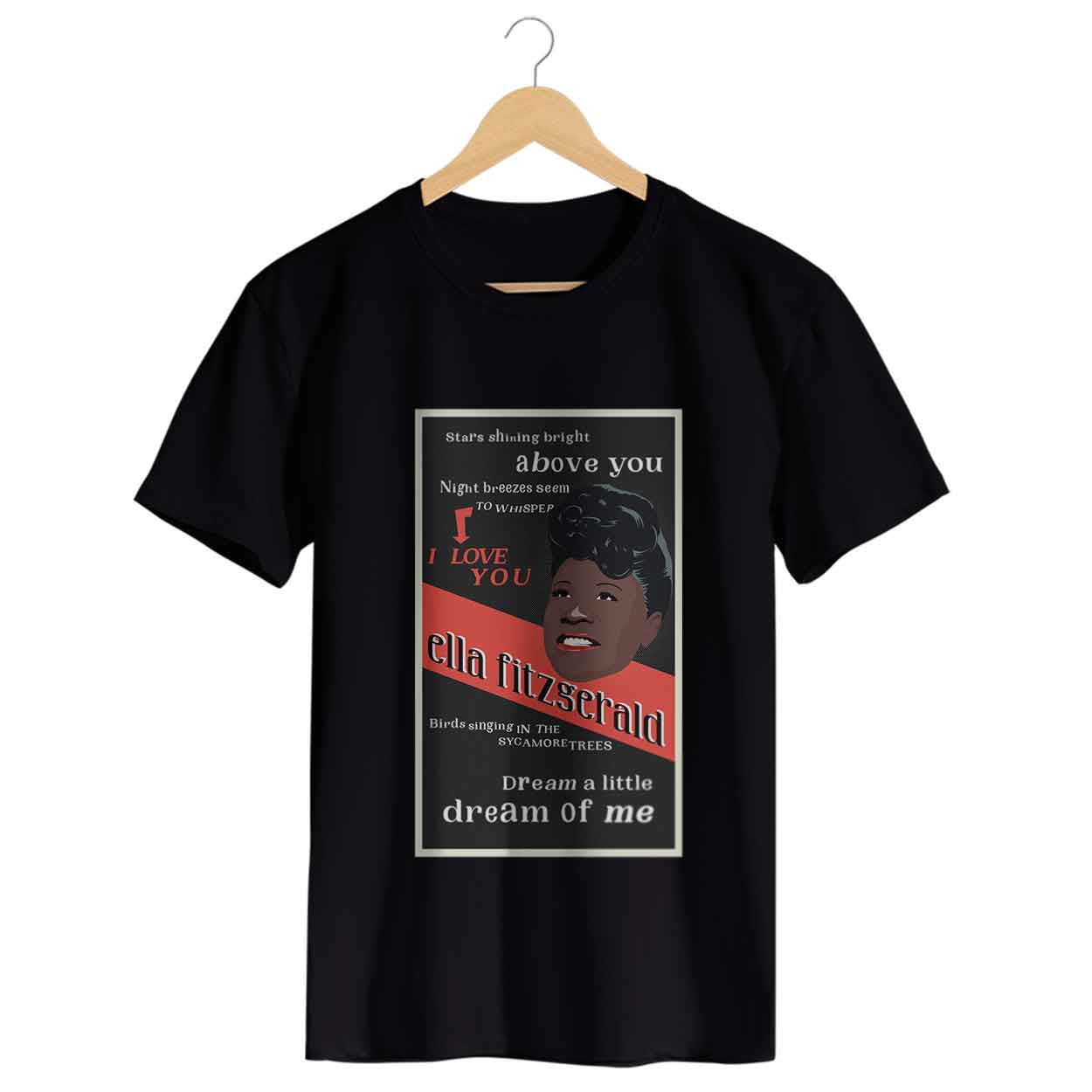 Camiseta - Dream A Little Dream Of Me - Ella Fitzgerald - Masculino