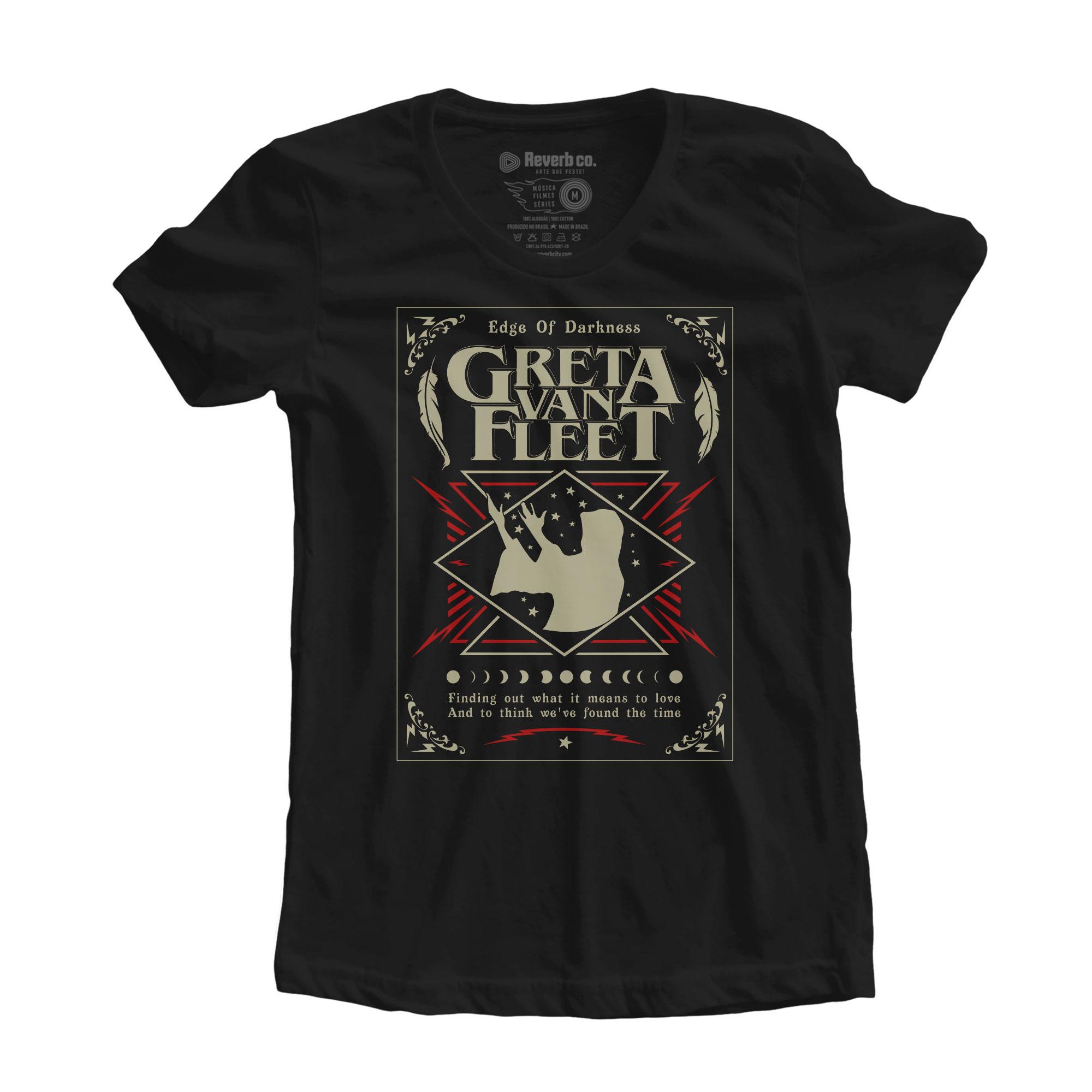 Camiseta Edge of Darkness - Greta Van Fleet - Feminino