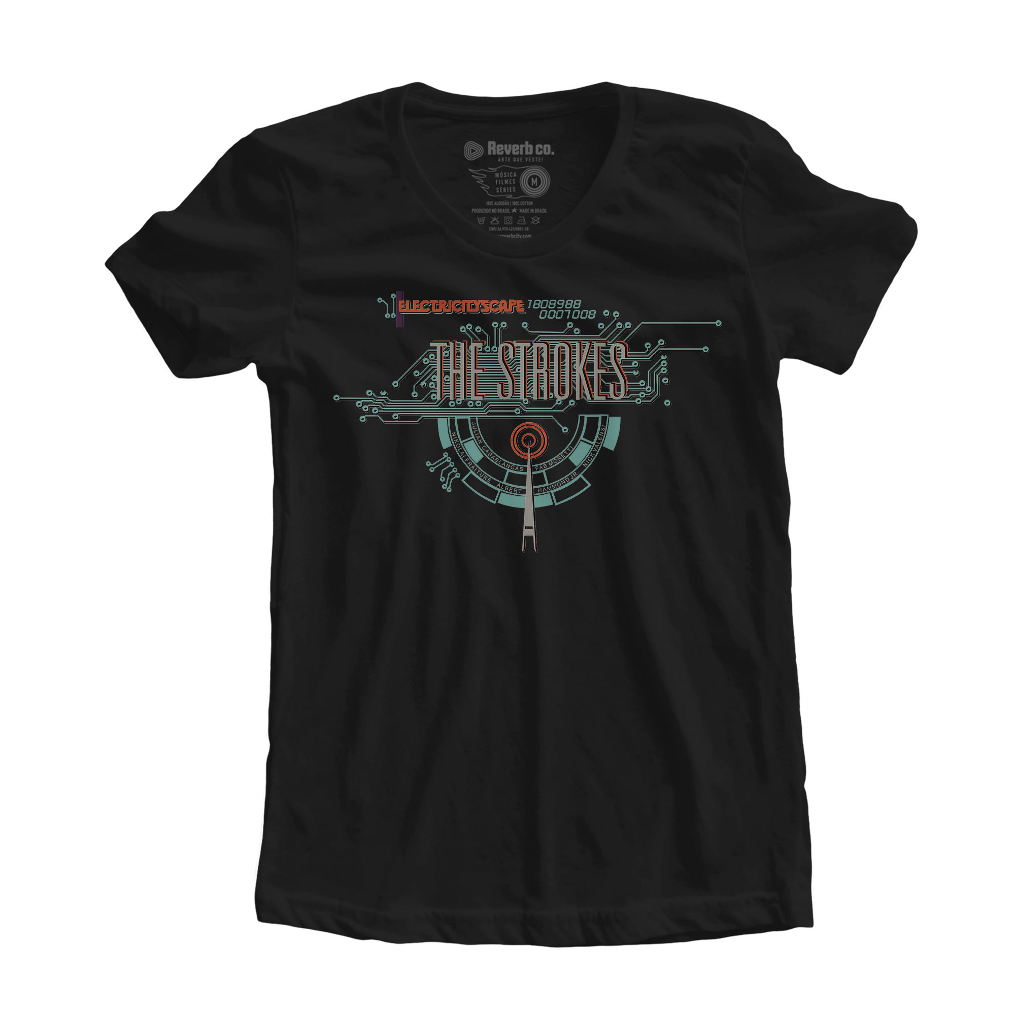 Camiseta Electricityscape - The Strokes - Feminino