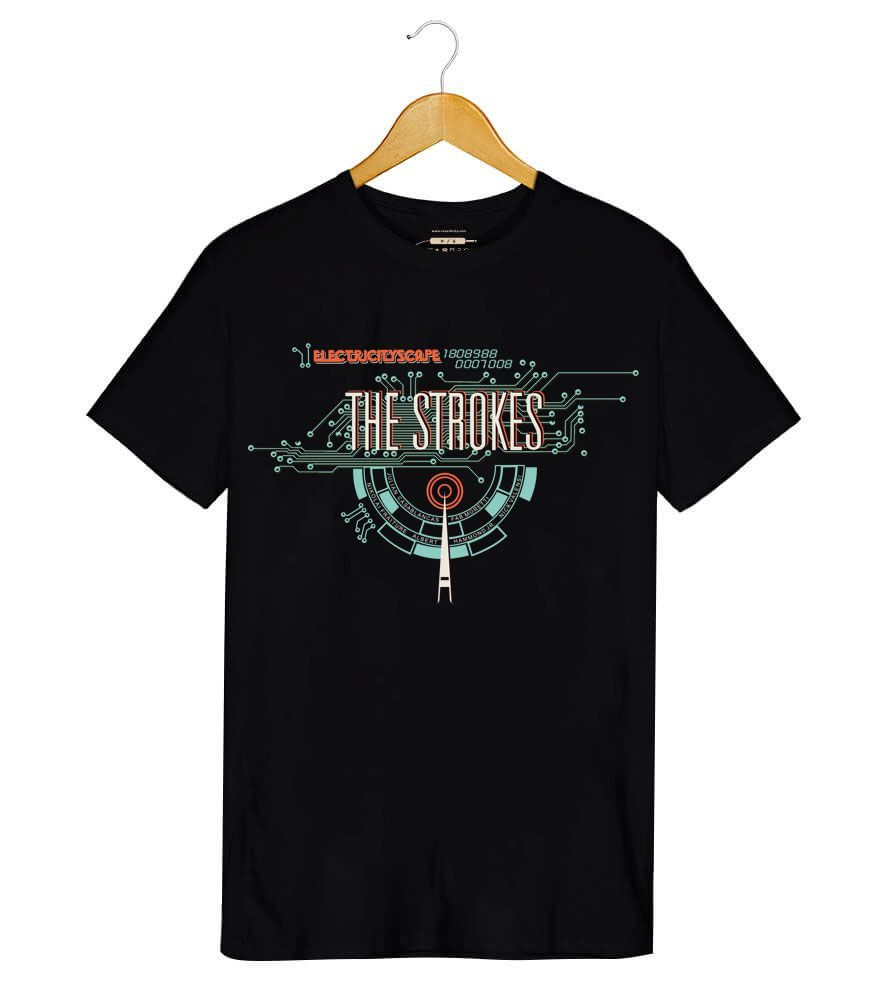 Camiseta Electricityscape - The Strokes - Masculino