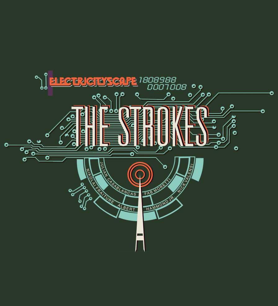 Camiseta - Electricityscape - The Strokes - Masculino