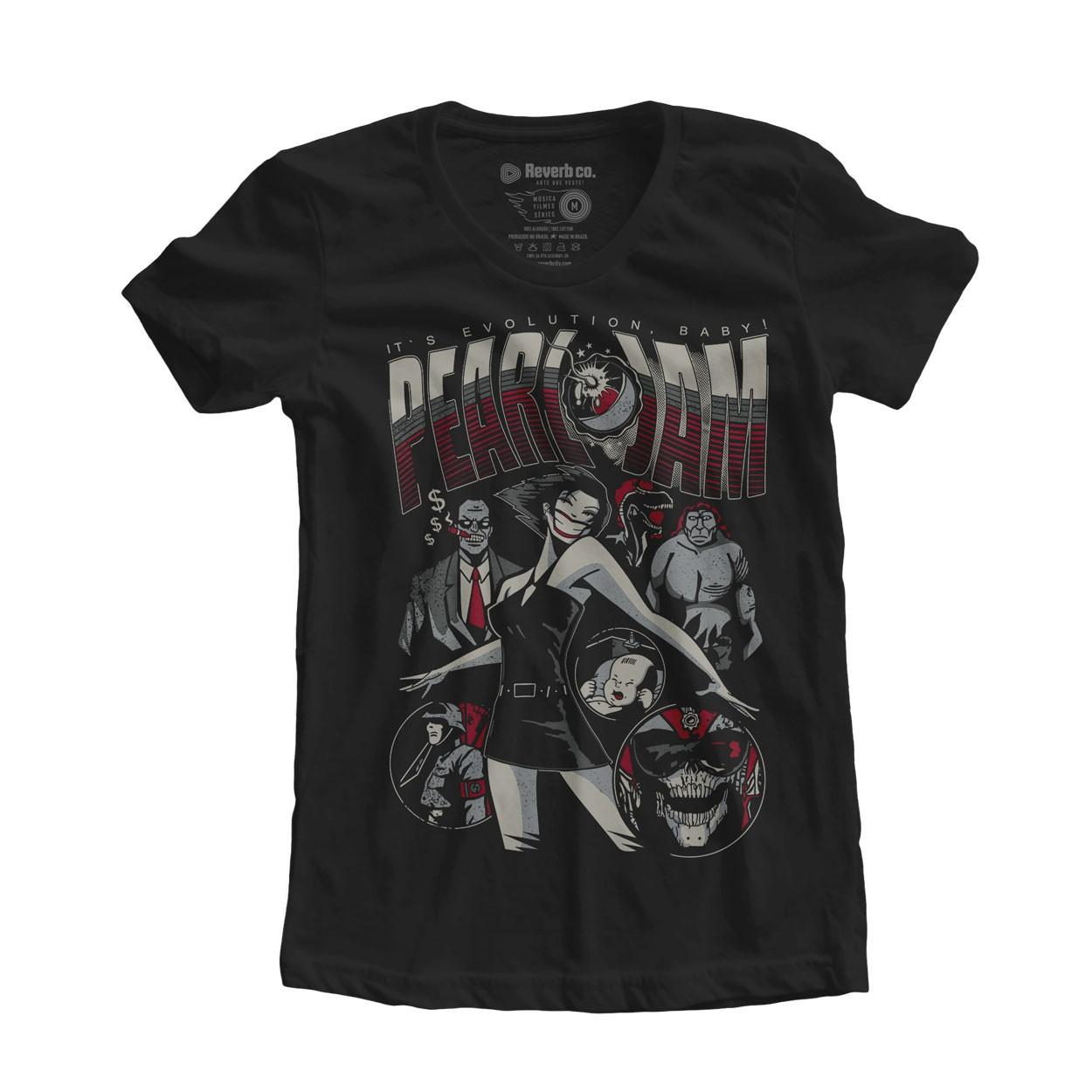 Camiseta Evolution - Pearl Jam - Feminino