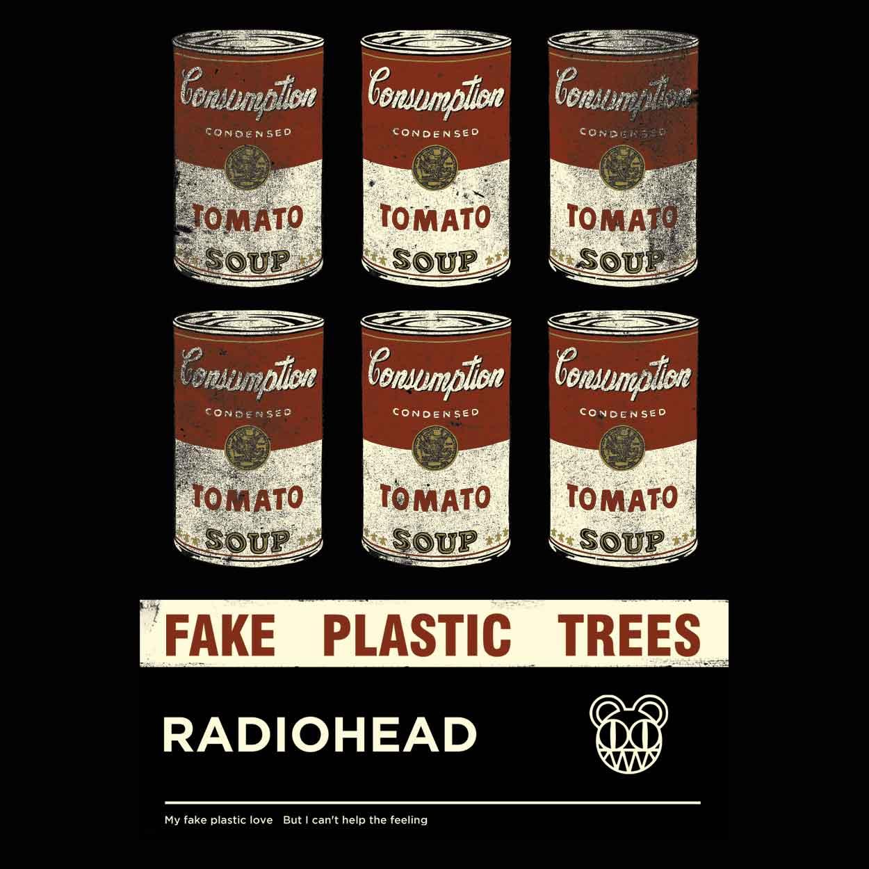 Camiseta - Fake Plastic Trees - Radiohead - Infantil