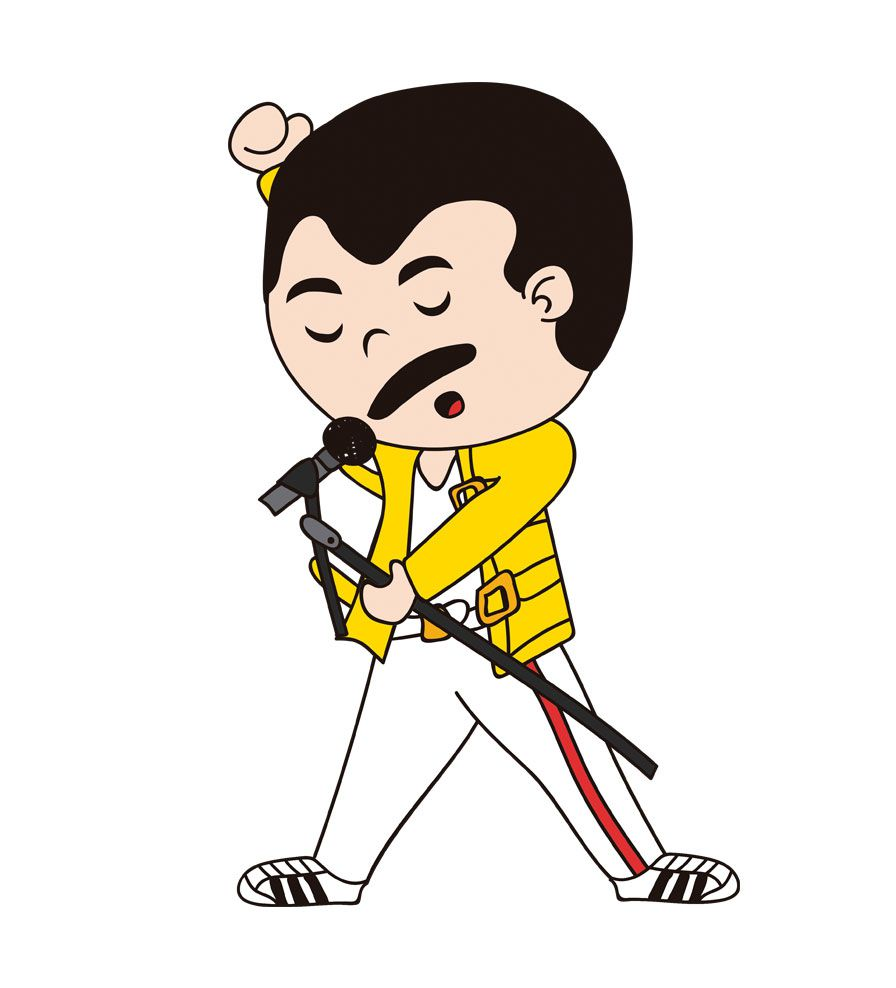 Camiseta - Farrokh Bulsara - Freddie Mercury -  Infantil