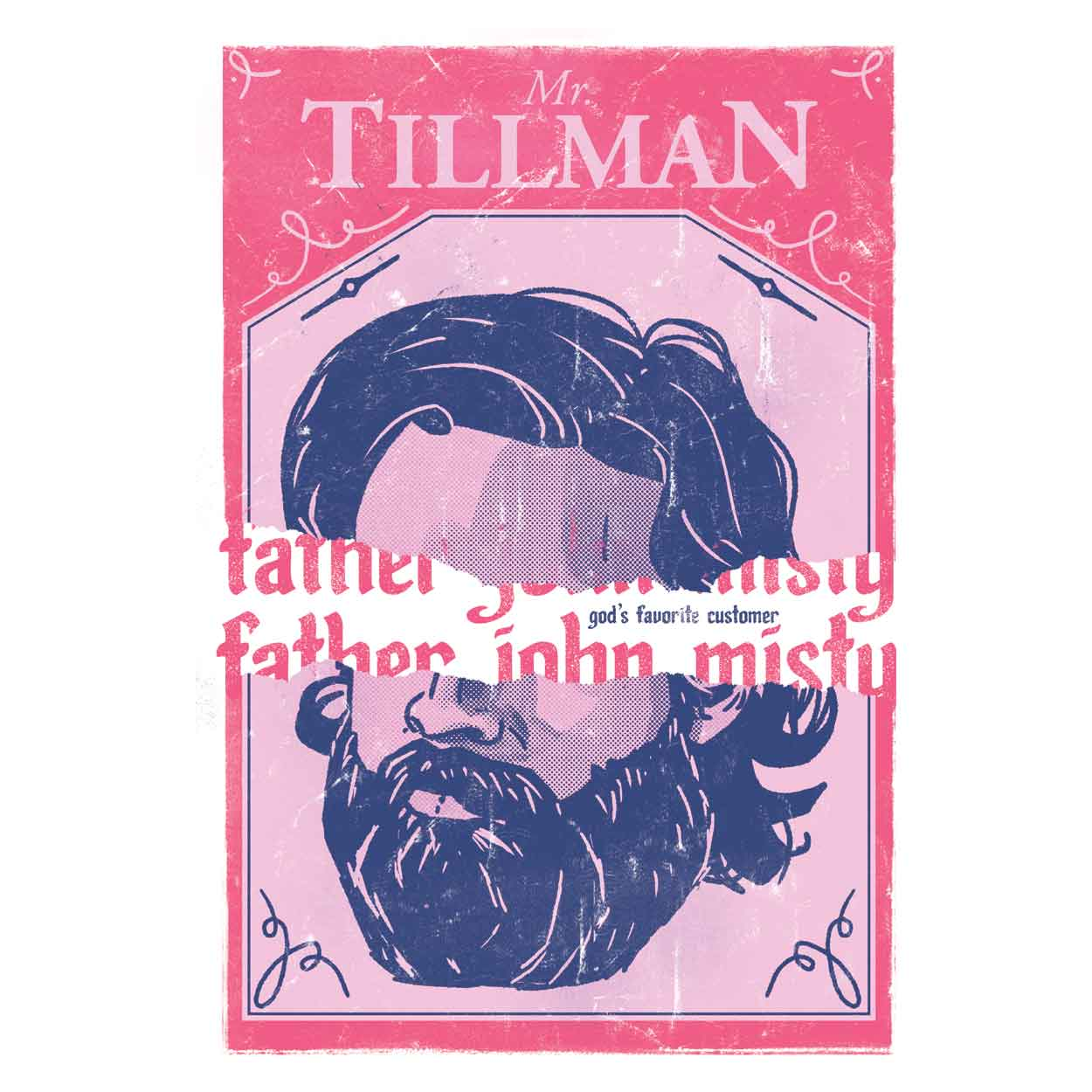 Camiseta Father John Misty - Mr. Tillman  - Feminino