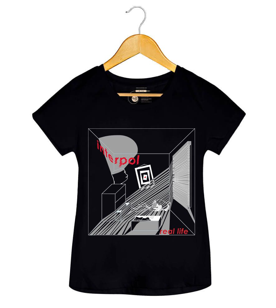 Camiseta - Fine Mess Real Life - Interpol - Feminino