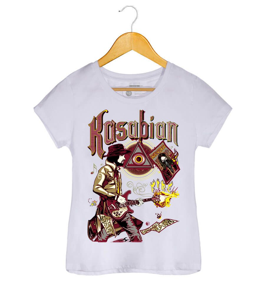 Camiseta Fire - Kasabian - Feminino