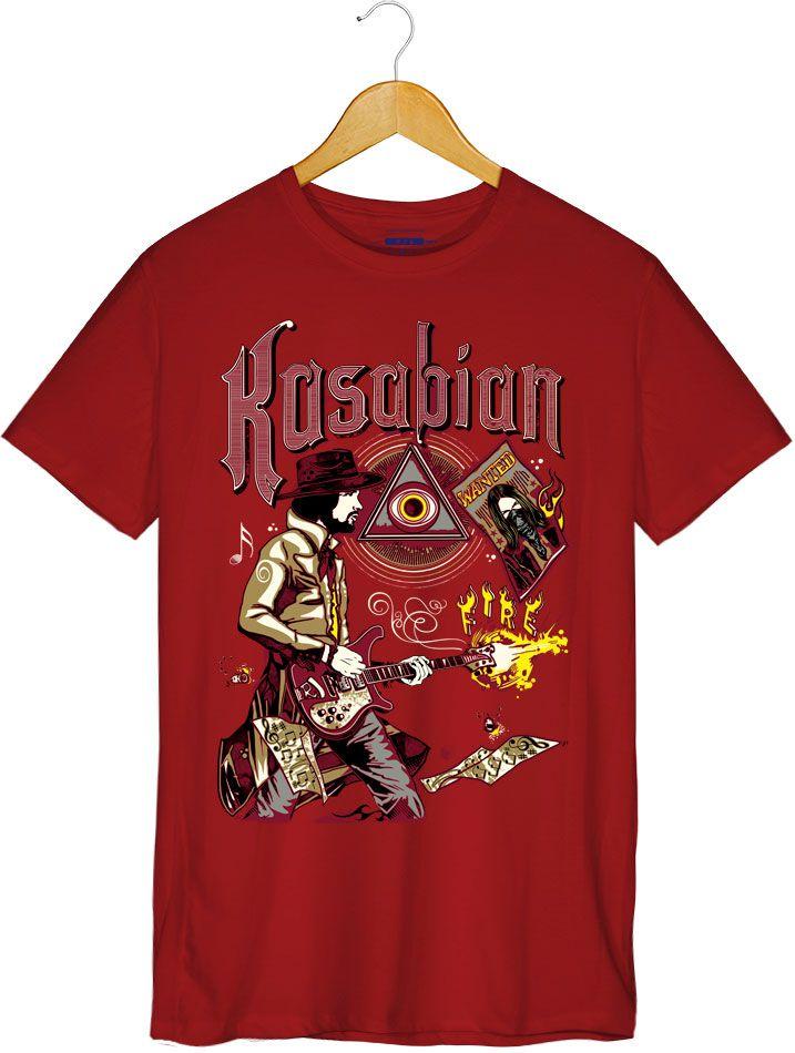 Camiseta Fire - Kasabian - Masculino