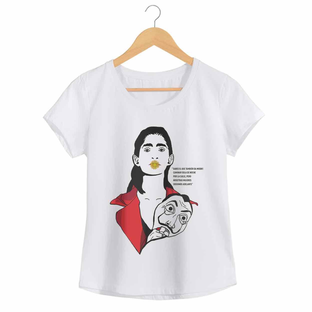 Camiseta - Flor - Nairobi - La casa de Papel - Feminino
