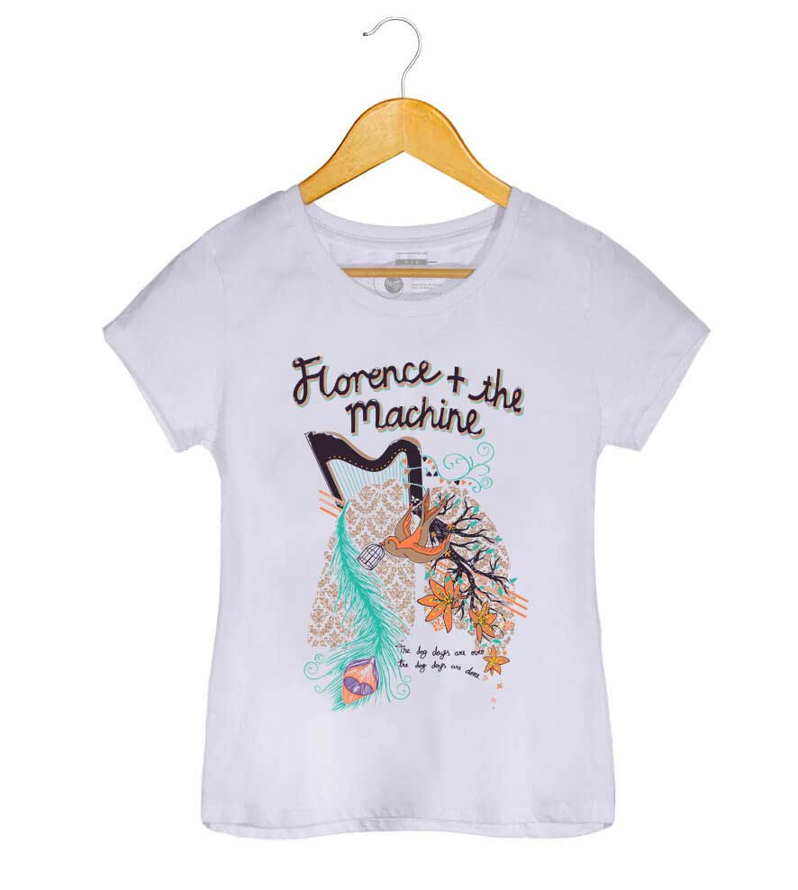 Camiseta The Dog Dayes - Florence and the Machine - Feminino