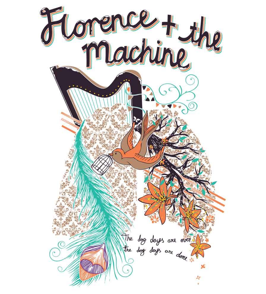 Camiseta The Dog Dayes - Florence and the Machine - Feminino