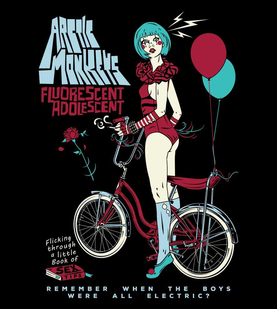 Camiseta - Fluorescent Adolescent - Artic Monkeys - Infantil