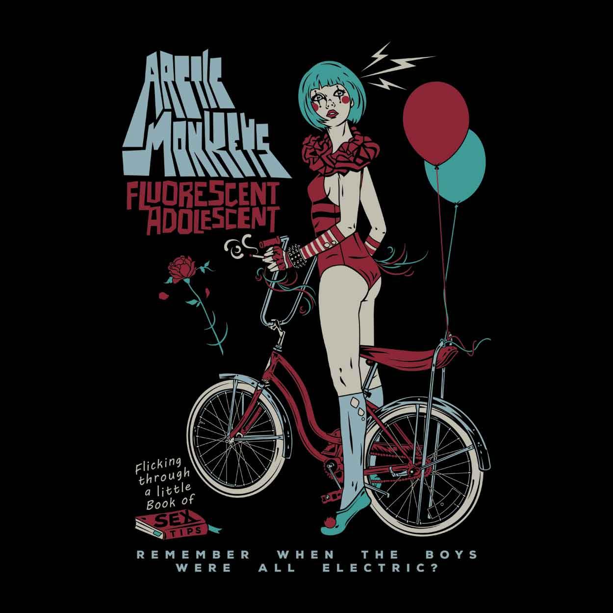 Camiseta Fluorescent Adolescent - Arctic Monkeys - Infantil