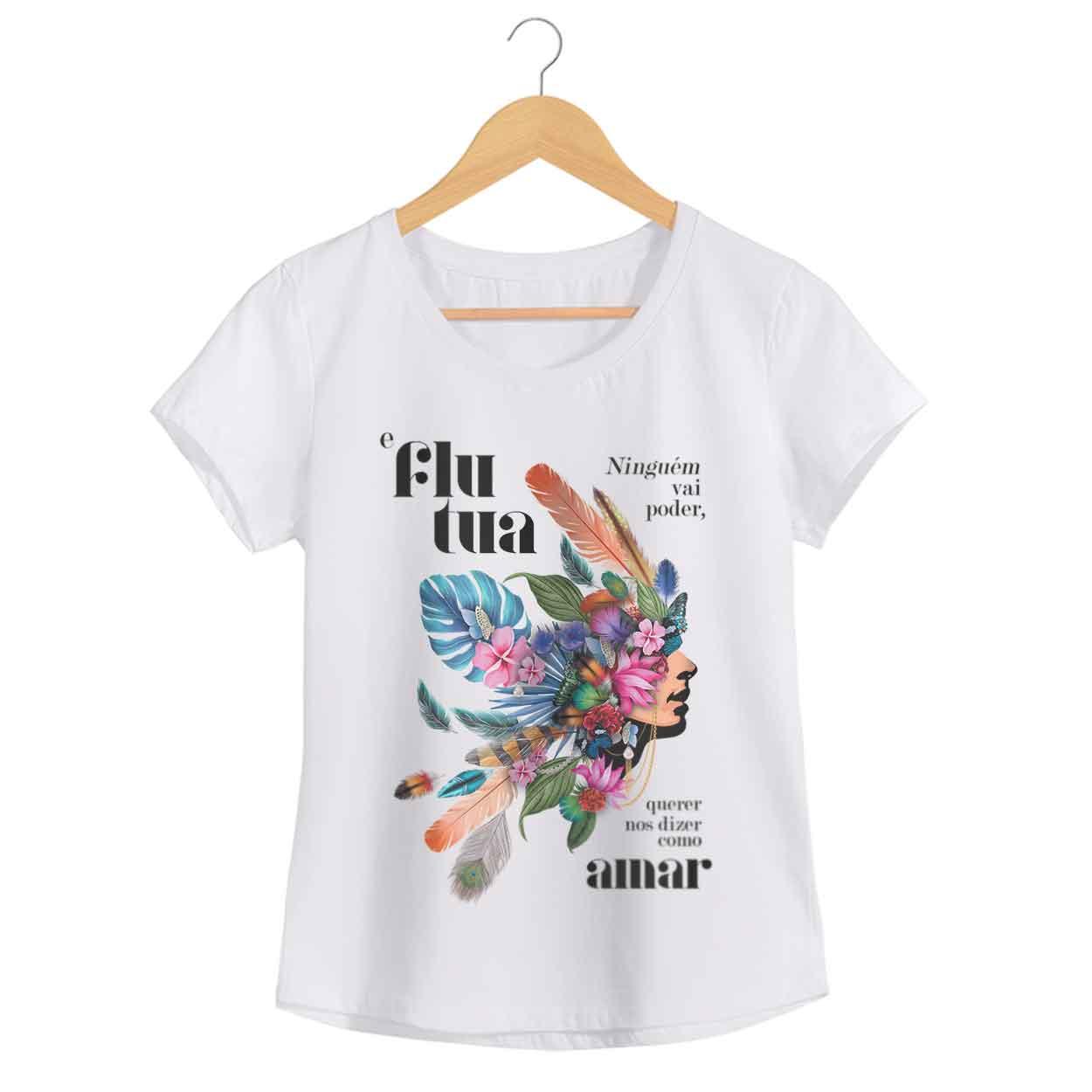 Camiseta - Flutua - Johnny Hooker - Feminino