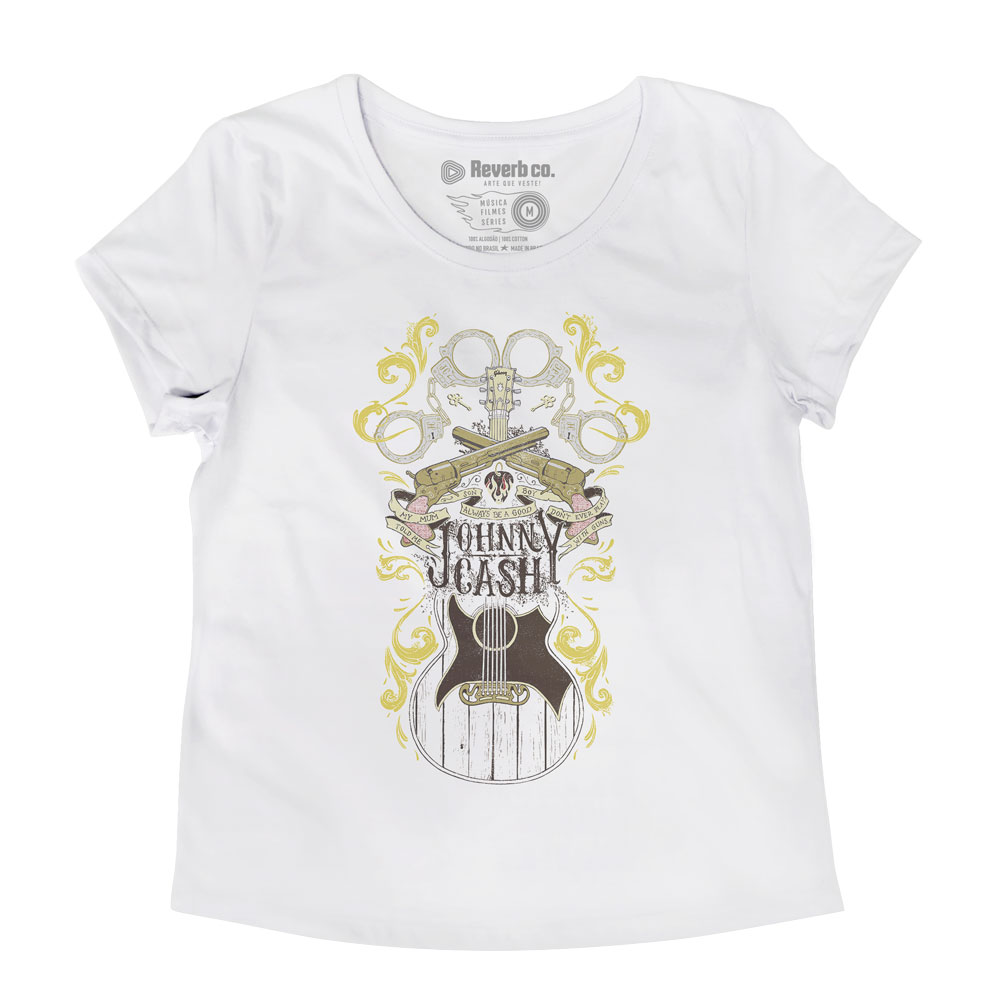 Camiseta Folsom Prison Blues - Johnny Cash - Feminino