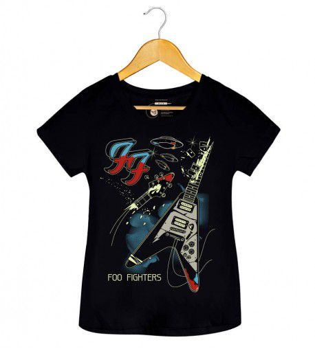 Camiseta - Foo Fighters - Um - Feminino