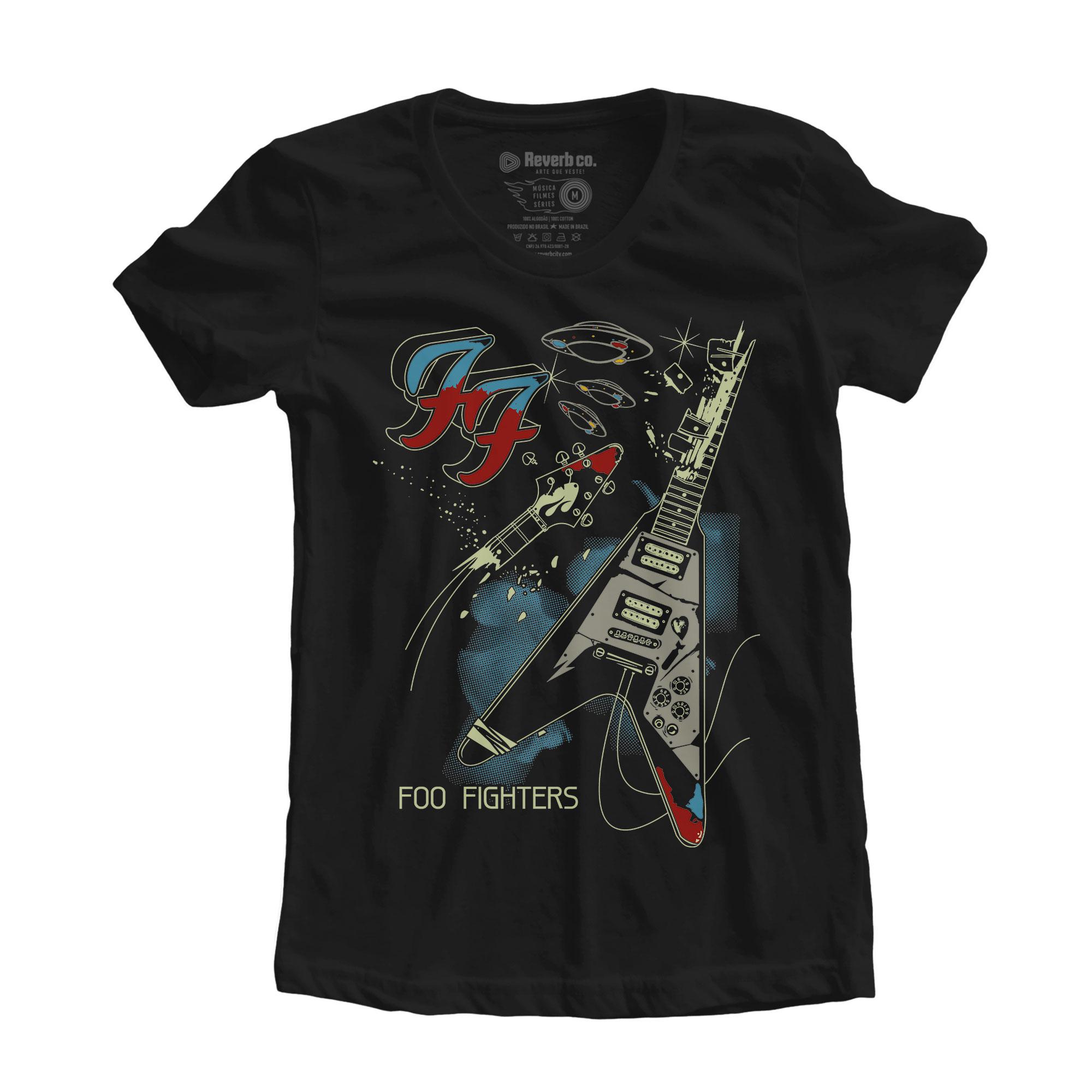 Camiseta Foo Fighters - Um - Feminino