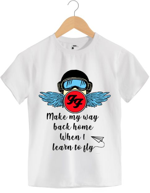 Camiseta Learn to Fly - Foo Figthers - Infantil