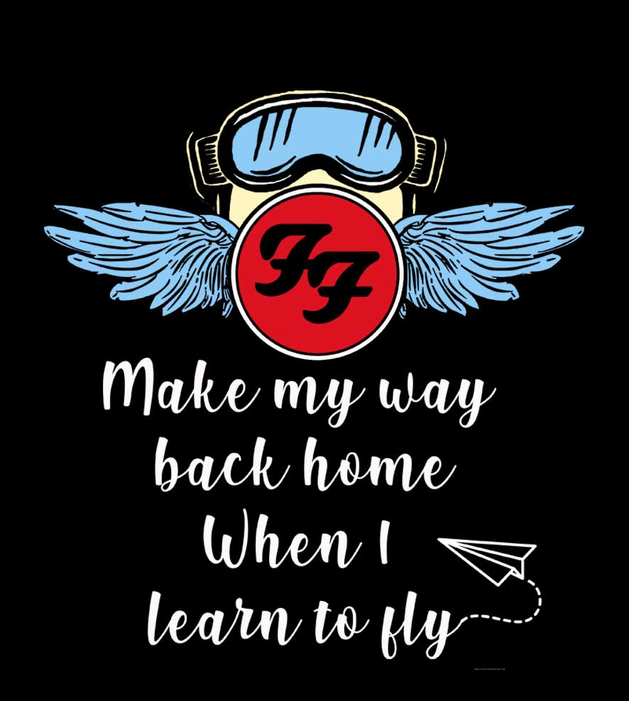 Camiseta - Learn to Fly - Foo Figthers - Infantil