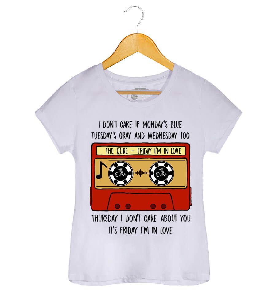 Camiseta Friday In Love (Tape) - The Cure - Feminino