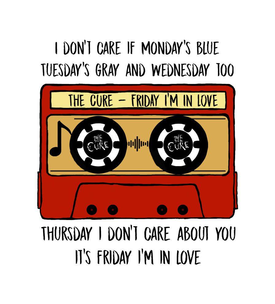 Camiseta - Friday In Love (Tape) - The Cure - Feminino
