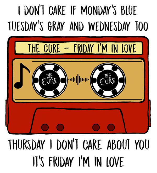Camiseta - Friday In Love (Tape) - The Cure - Infantil