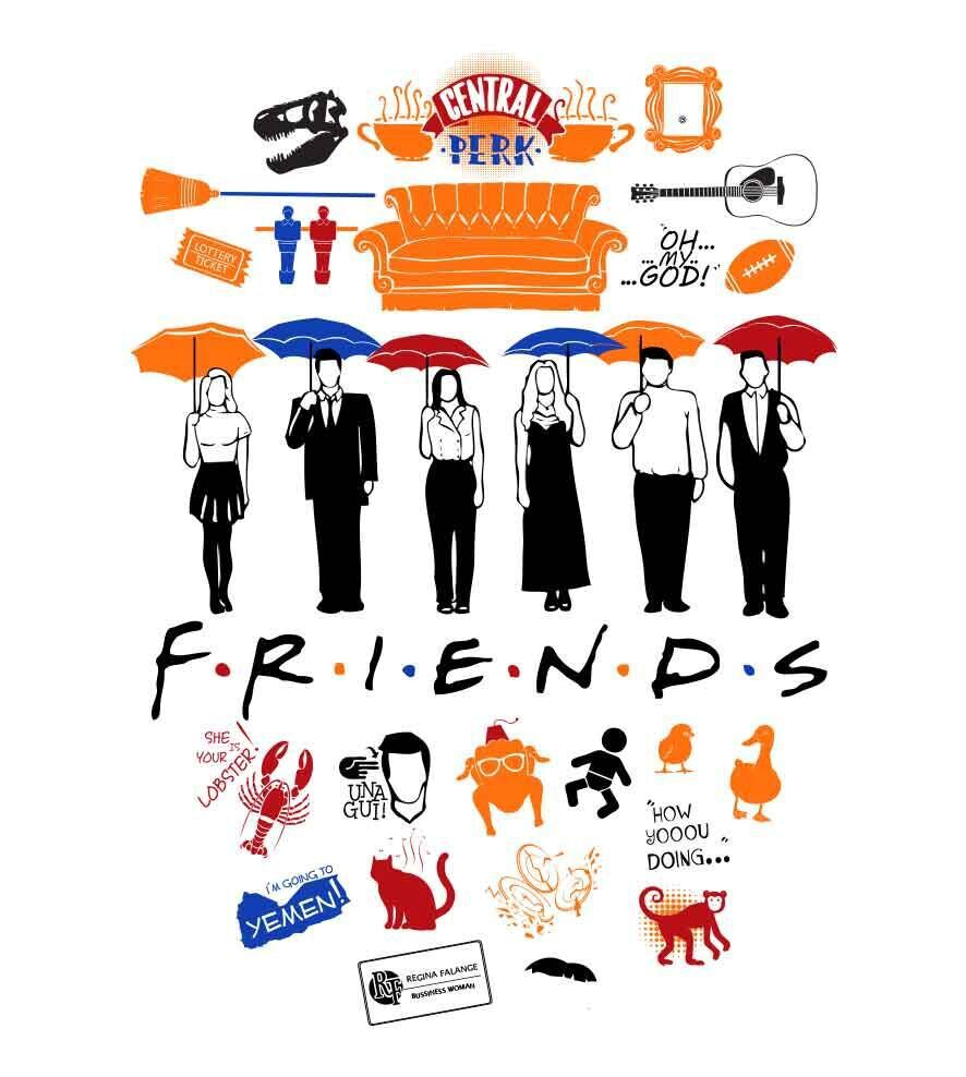 Camiseta Friends - Feminino