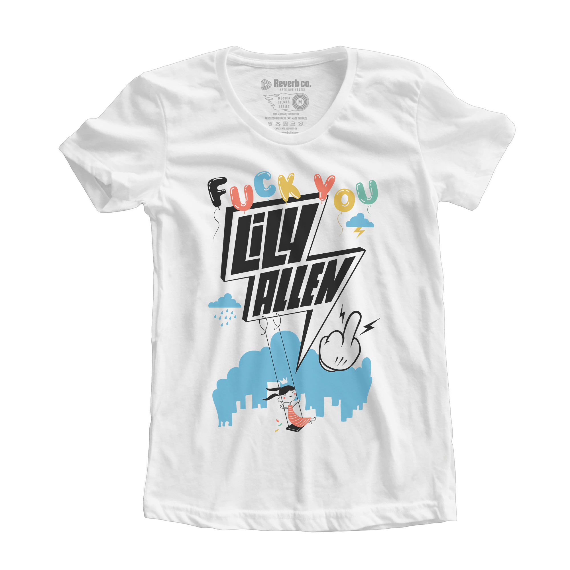 Camiseta Fuck You - Lily Allen - Feminino