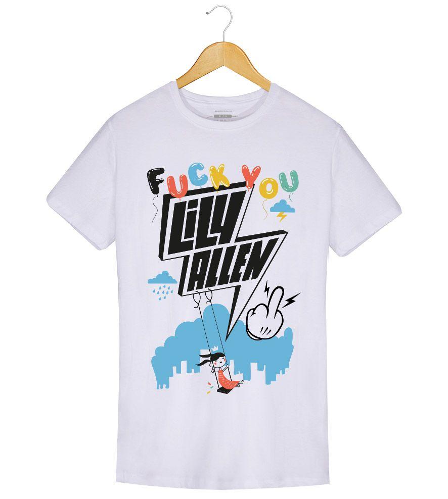 Camiseta Fuck You - Lily Allen - Masculino