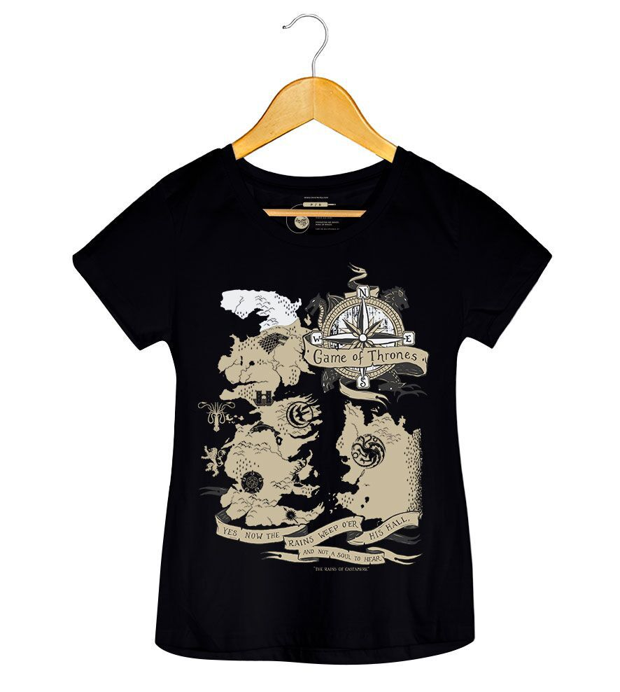 Camiseta - Game Of Thrones - Feminino