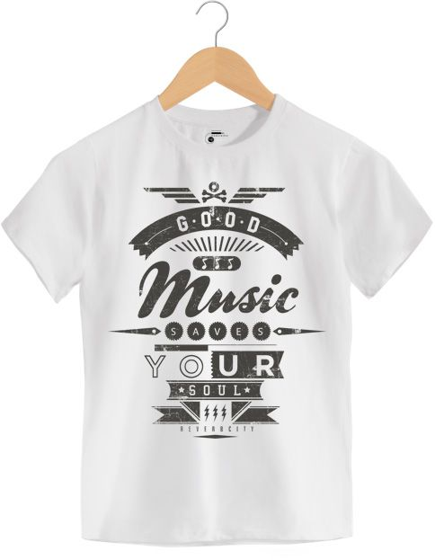 Camiseta - Good Music Saves Your Soul - Infantil