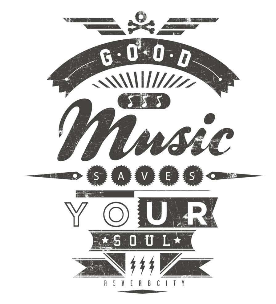 Camiseta - Good Music Saves Your Soul - Infantil