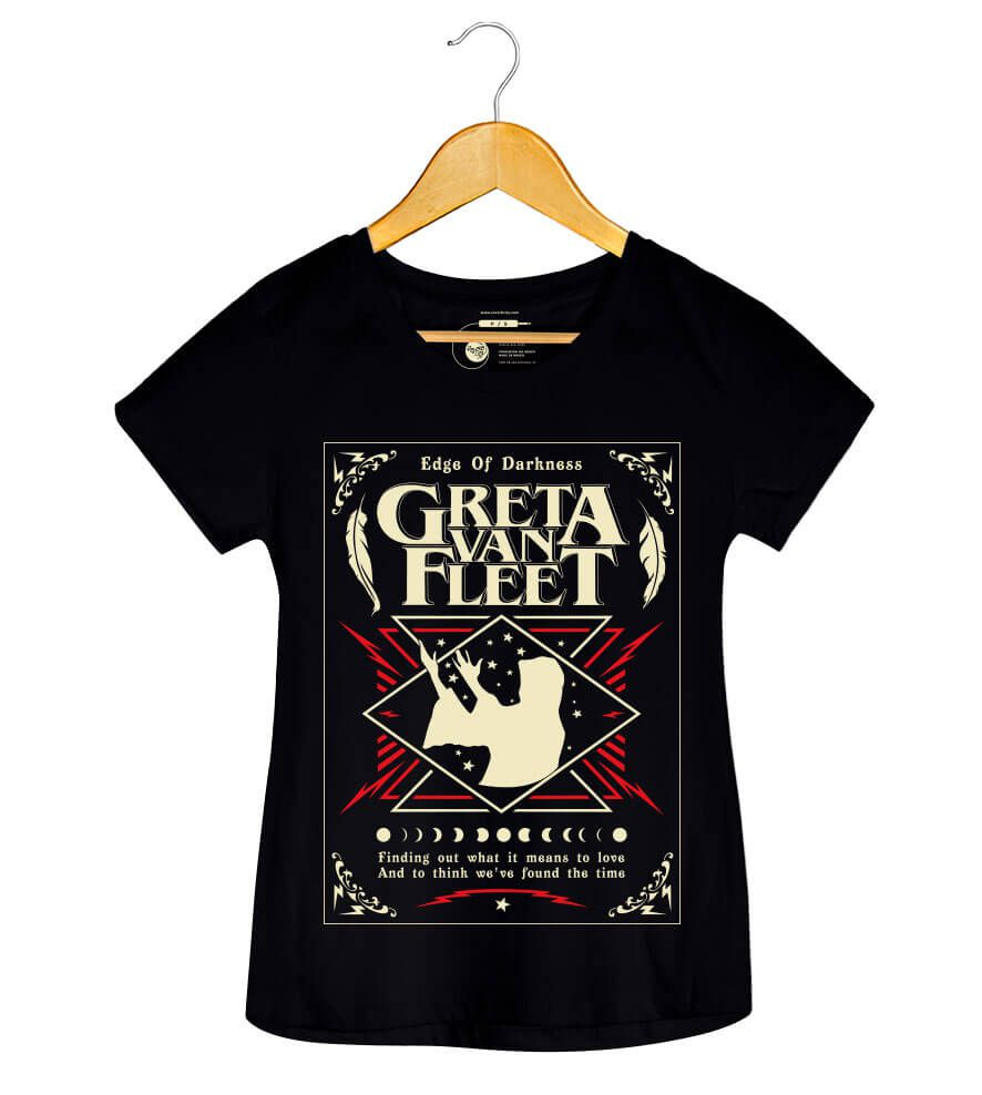 Camiseta - Edge of Darkness - Greta Van Fleet - Feminino