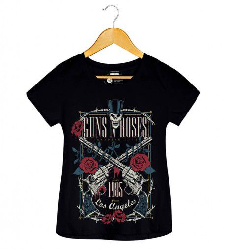 Camiseta - Paradise City - Guns N Roses - Feminino