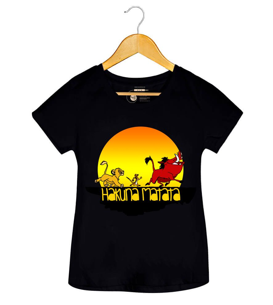Camiseta - Hakuna Matata - Rei Leão - Feminino
