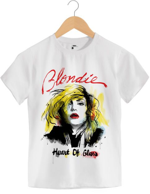 Camiseta Heart of Glass - Blondie - Infantil