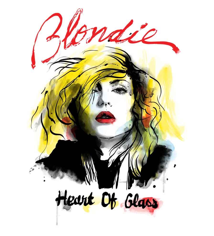 Camiseta - Heart of Glass - Blondie - Infantil
