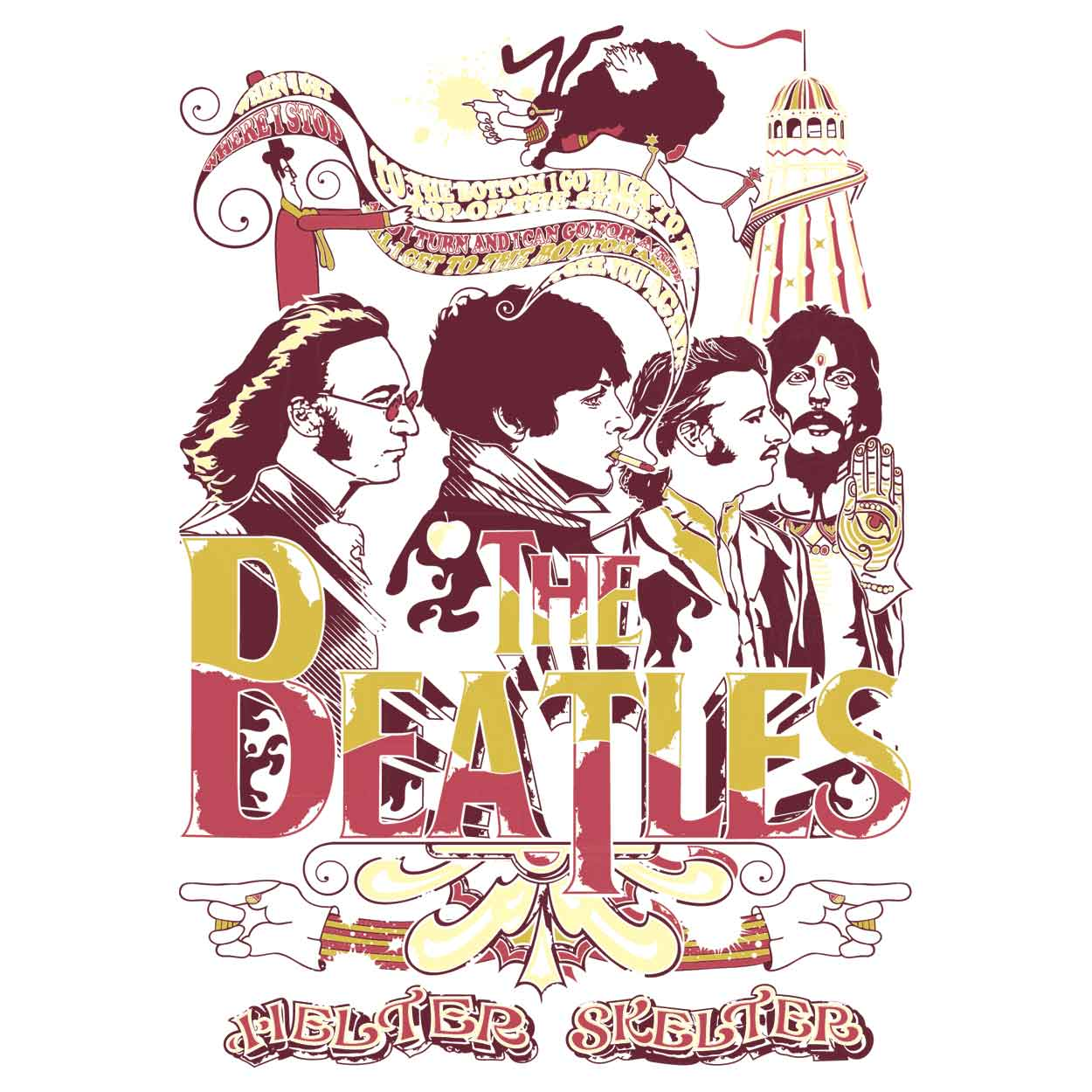 Camiseta Helter Skelter - The Beatles - Infantil
