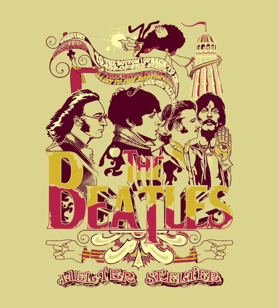 Camiseta - Helter Skelter - The Beatles - Masculino