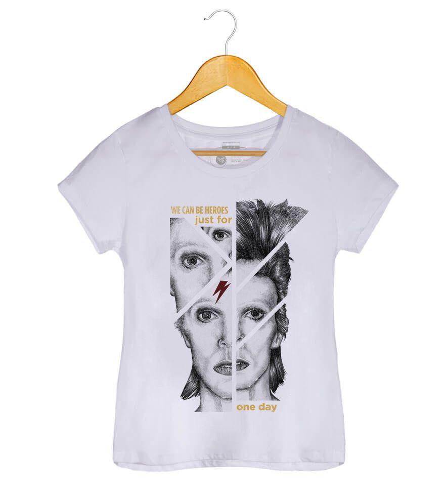 Camiseta - Heroes - David Bowie - Feminino