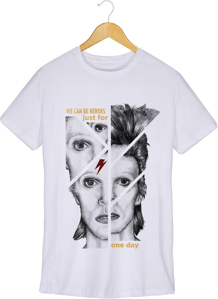 Camiseta - Heroes - David Bowie - Masculino