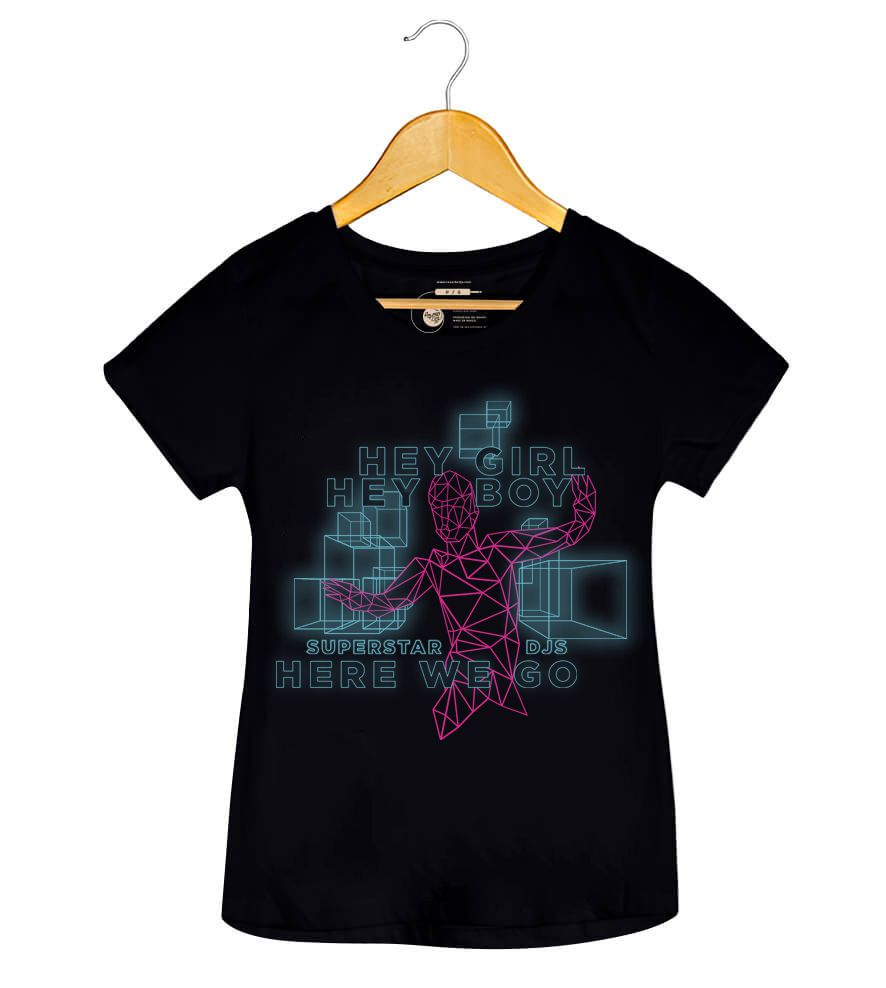 Camiseta Hey Boy! Hey Girl! - The Chemical Brothers - Feminino