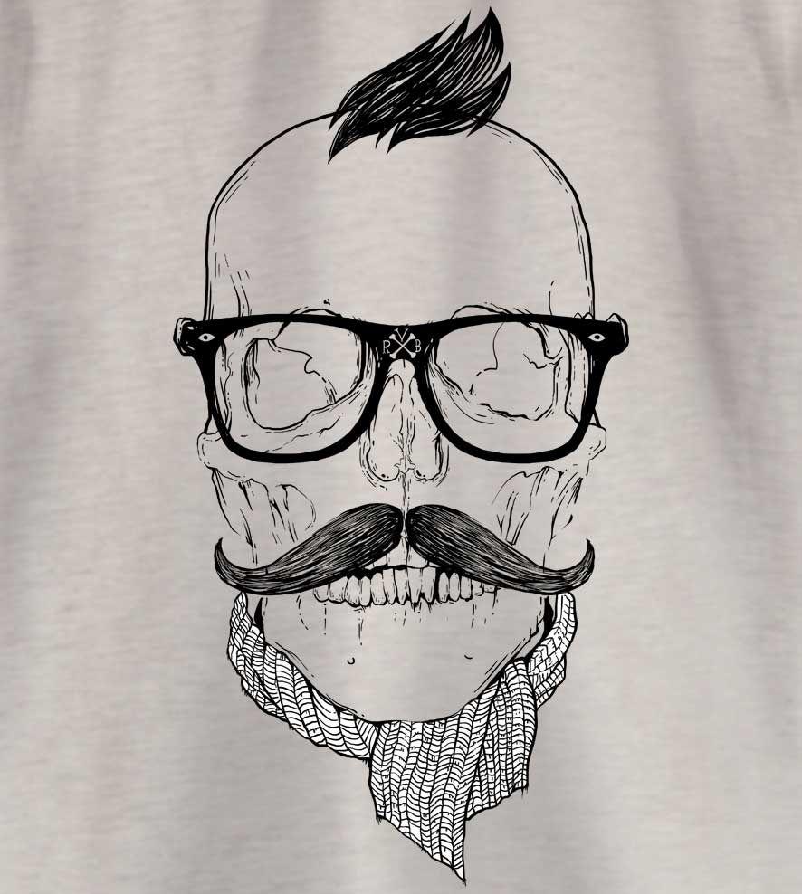 Camiseta - Hipster - Caveira - Infantil