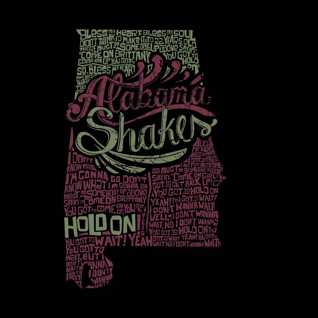 Camiseta Hold On - Alabama Shakes - Feminino