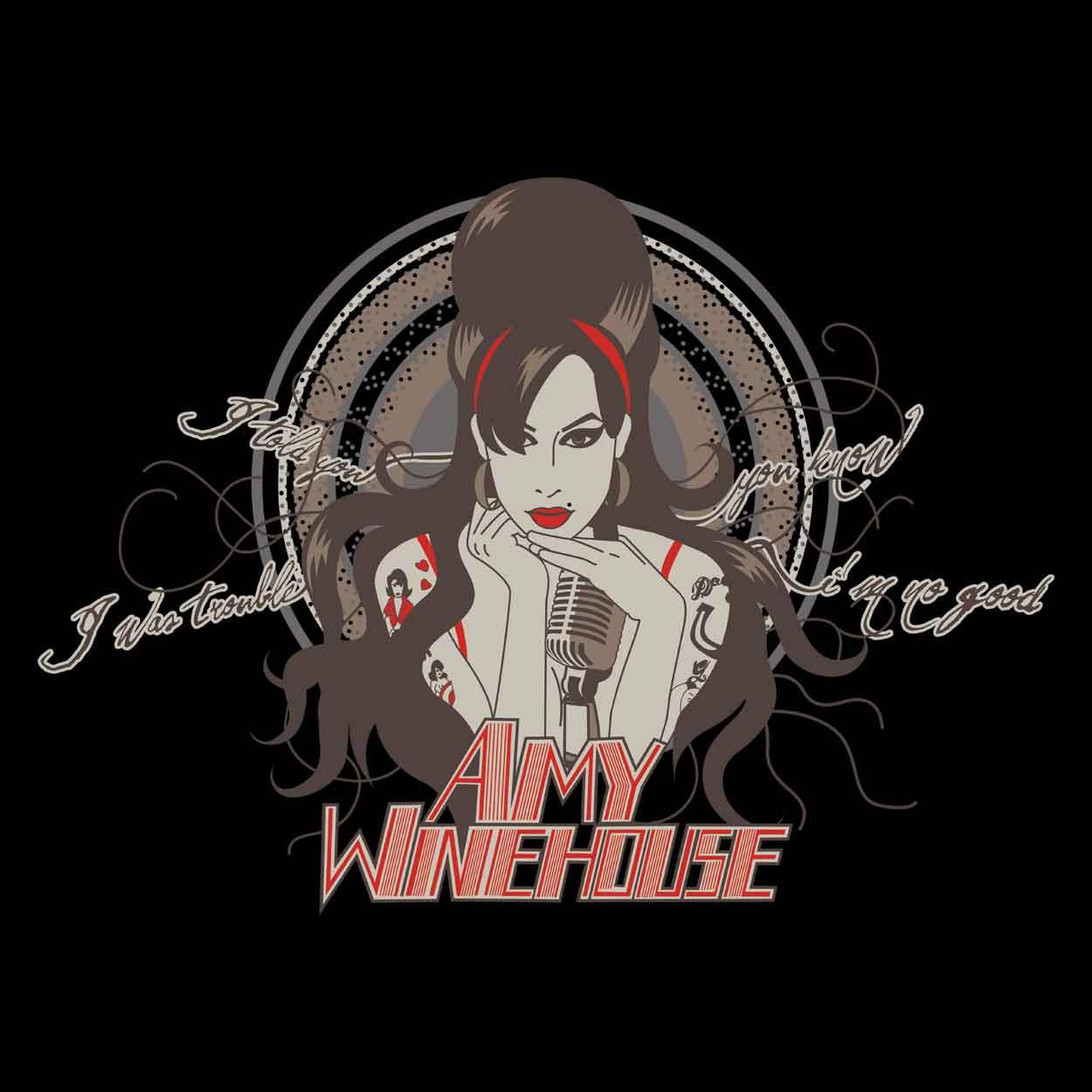 Camiseta - I Told You I Was Trouble - Amy Winehouse - Masculino