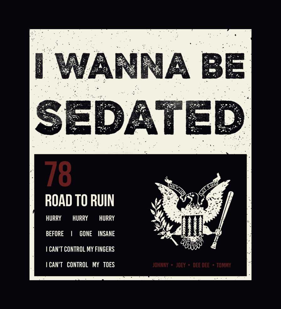 Camiseta - I Wanna Be Sedated - Ramones - Feminino