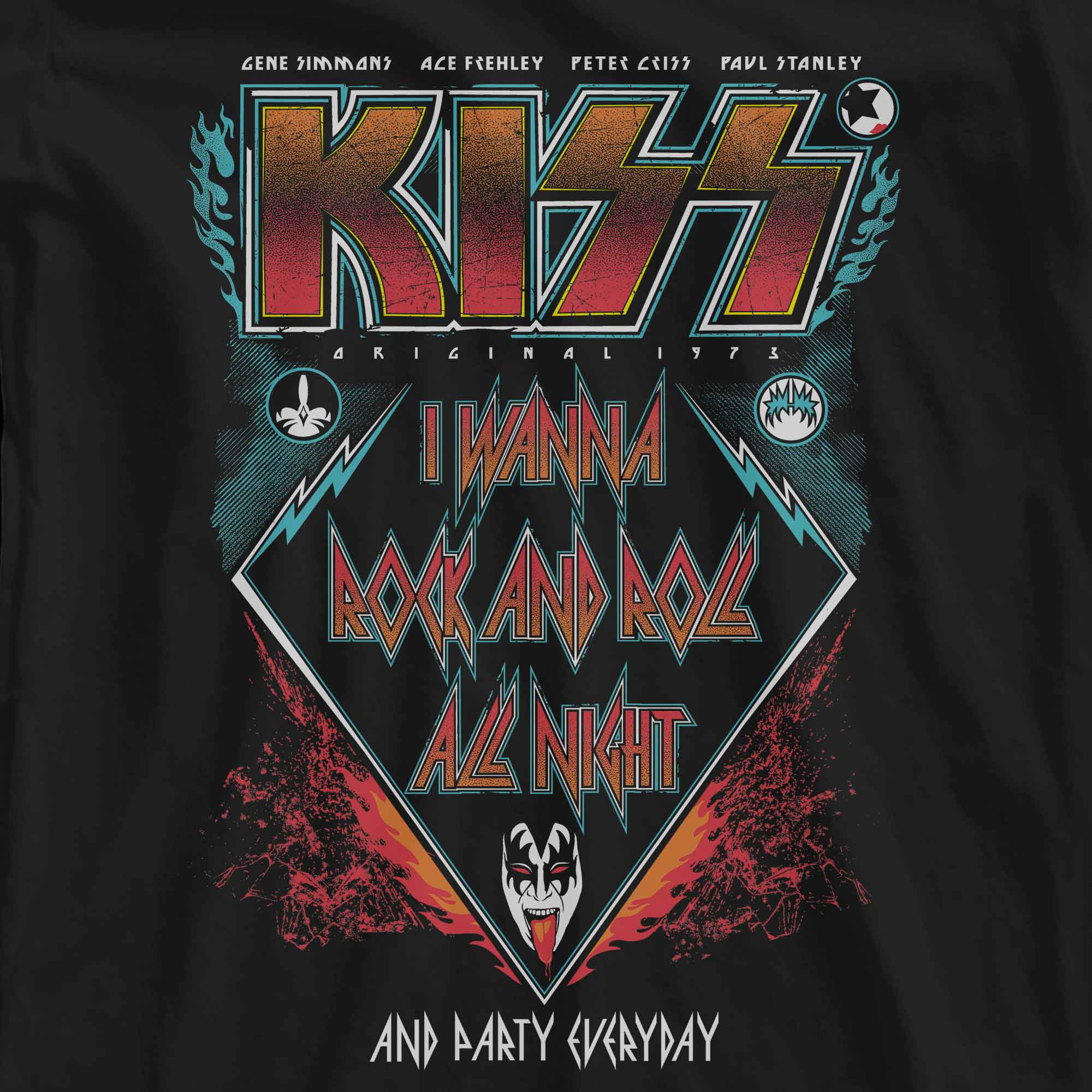 Camiseta I Wanna Rock And Roll All Night - Kiss - Feminino