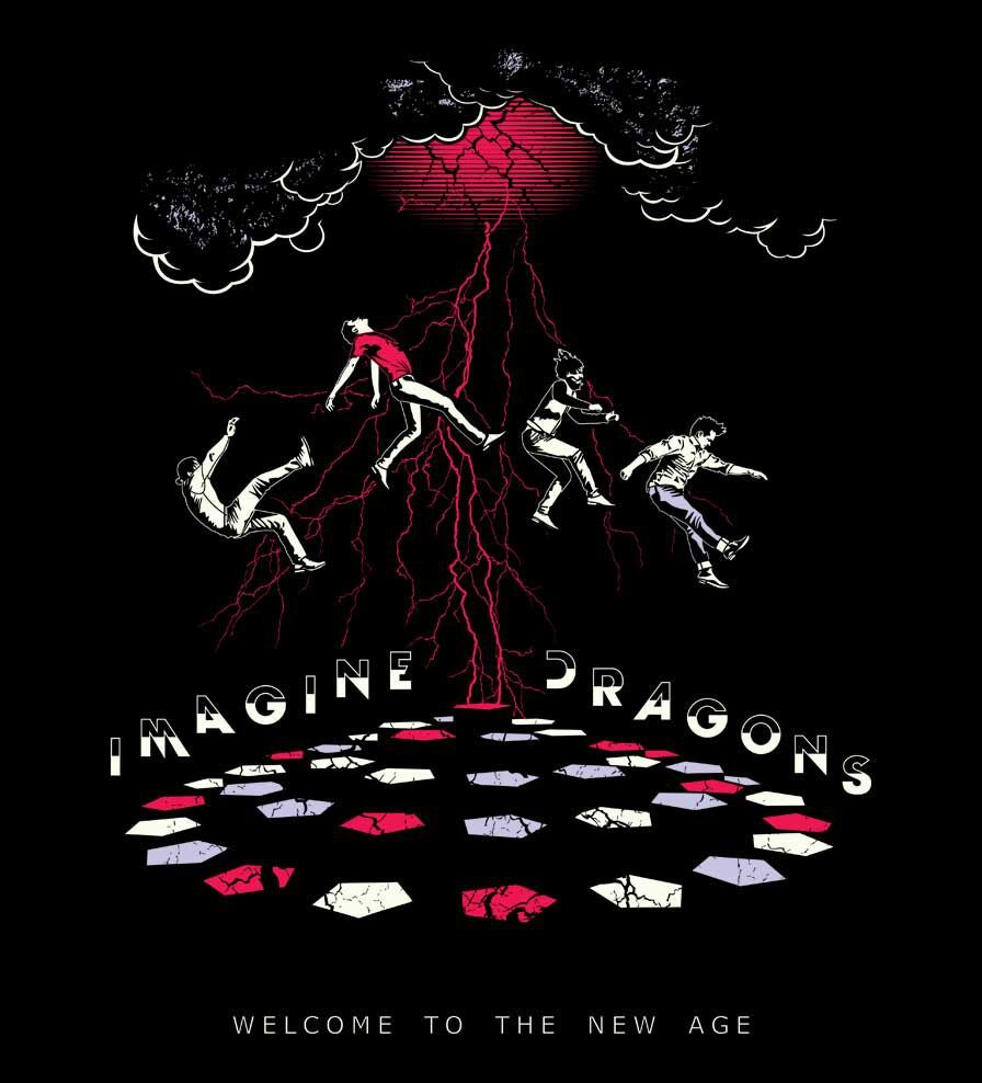Camiseta - Welcome To The New Age - Imagine Dragons - Masculino